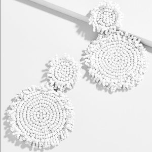 Baublebar's Rianne Drop Earrings. White.
